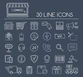Set of e-commerce line icons. Line icons for business, web development and landing page. Flat design. Vector Royalty Free Stock Image