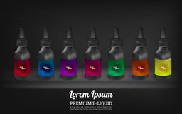 Set E-Liquid. Stock Photos