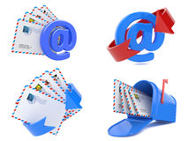 Set of E-mail and Internet Messaging Concept. 3D Stock Photography