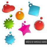 Set of e-shop signs. Colourful e-shop SALE signs. Suitable for your web Stock Image