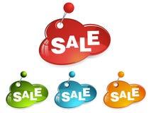 Set of e-shop signs. Colourful e-shop SALE signs. Suitable for your web Stock Images