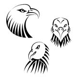Set Eagles Heads Royalty Free Stock Image
