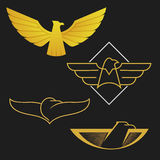 The set of eagles logo icon design. Royalty Free Stock Images
