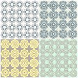 Set of eamless geometric backgrounds Stock Photos