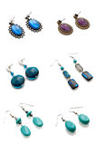 A set of earrings Stock Photography
