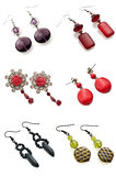 A set of earrings Royalty Free Stock Photo