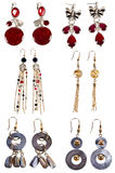 A set of earrings Royalty Free Stock Photography