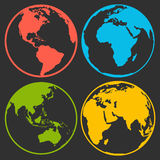 Set of earth planet globe logo icons for web and app Stock Image