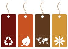 Set of earth toned tags Royalty Free Stock Photography