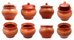 Set of earthenware pots Royalty Free Stock Photography