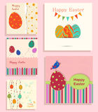 Set of Easter background Stock Images