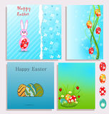 Set of Easter background Royalty Free Stock Images