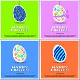 Set of Easter colored eggs. Vector illustration. vector illustration