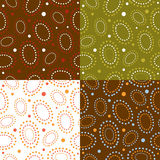 Set of easter backgrounds, seamless pattern Royalty Free Stock Photo