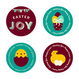 Set of Easter Badges Royalty Free Stock Image