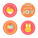 Set of Easter Badges Royalty Free Stock Photo
