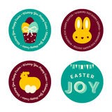 Set of Easter Badges Stock Photography