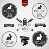 Set of easter badges