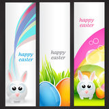 Set of easter banner Stock Photography
