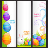 Set of easter banner Stock Images