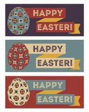 Set of easter banners Royalty Free Stock Image