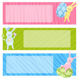 Set of Easter banners Stock Images