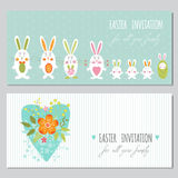 Set of Easter banners Stock Photo