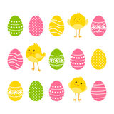 Set of Easter borders Royalty Free Stock Image