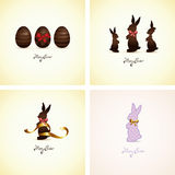 Set of easter cards Royalty Free Stock Photos