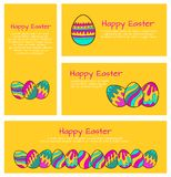 Set of Easter cards and banners Royalty Free Stock Photo