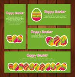 Set of Easter cards and banners Royalty Free Stock Images