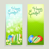 Set of Easter Cards with Eggs Royalty Free Stock Photos
