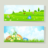Set of Easter Cards with Eggs Stock Photo