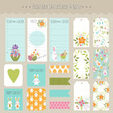 Set of Easter cards and notes Royalty Free Stock Images