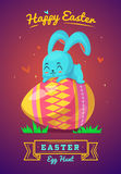 Set of Easter characters. Vector cute cartoons Stock Image