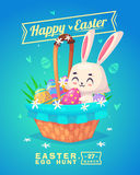 Set of Easter characters. Vector cute cartoons Royalty Free Stock Photo