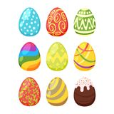 Set of Easter colorful eggs vector illustration