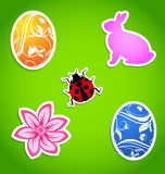 Set of Easter colorful elements Royalty Free Stock Photo