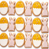 Set from Easter cookies in the shape of egg Royalty Free Stock Photography