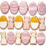 Set from Easter cookies in the shape of egg Stock Image