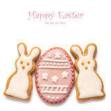 Set from Easter cookies in the shape of egg Royalty Free Stock Photo