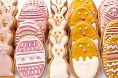 Set from Easter cookies in the shape of egg Stock Photos