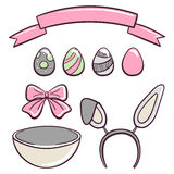 Set Easter Day Stock Images