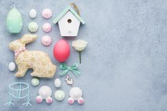 Set of Easter decoration. Easter preparation or sale concept stock photos