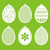 Set of Easter decorations laser cutting. Royalty Free Stock Images