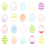 Set of easter different colorful eggs. Easter holiday hand drawn elements perfect for prints, flyers,banners,invitations,special offer and more.Easter eggs Stock Image
