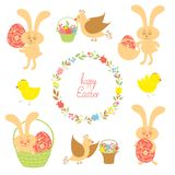 Set for Easter with Easter items Stock Photography