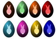 Set of easter egg Stock Photo