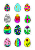 a set of easter egg  Stock Image