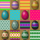 Set of easter egg seamless texture patterns Royalty Free Stock Images